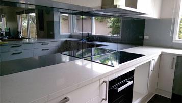 Kitchen Splash back Mirror TV